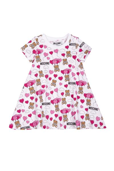 Baby Girls White Balloon Cotton Dress