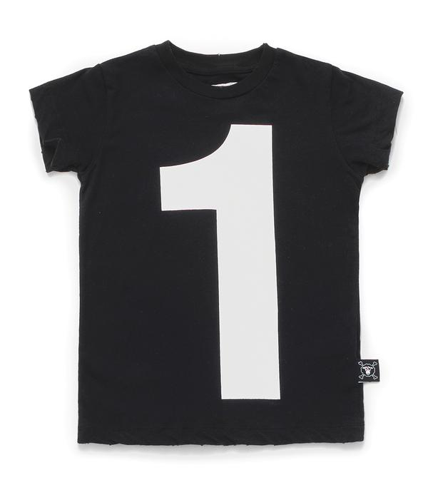 Baby Boys Black Number Cotton T-shirt