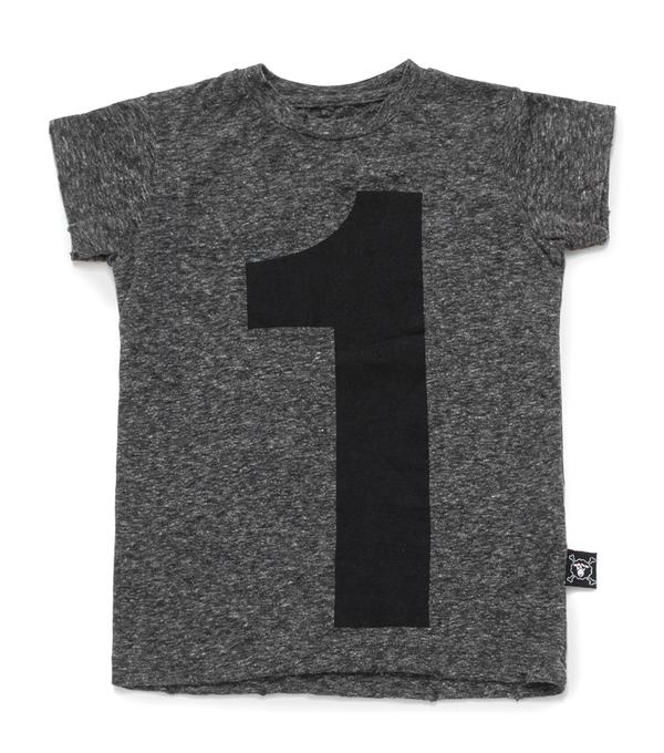 Baby Boys Charcoal Number Cotton T-shirt
