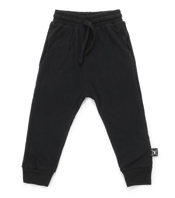 Baby Boys Black Cotton Riding Trousers