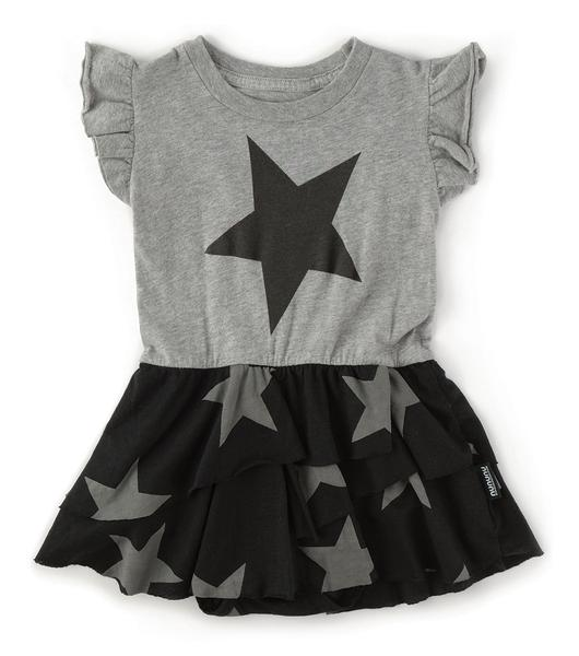 Baby Girls Grey Cotton Dress