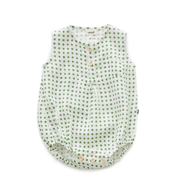 Baby Boys & Girls Green Dots Romper