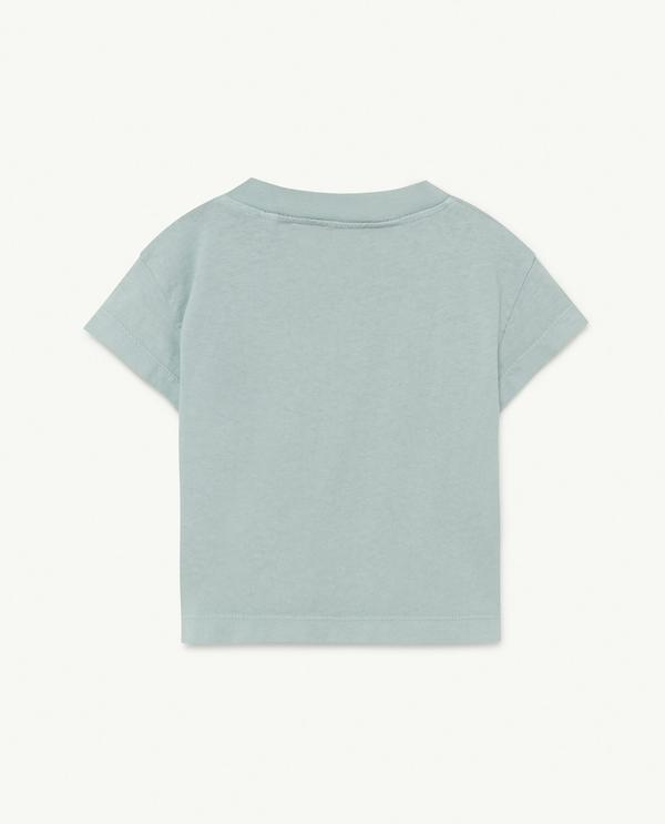 Baby Boys & Girls Blue Painted Cotton T-Shirt