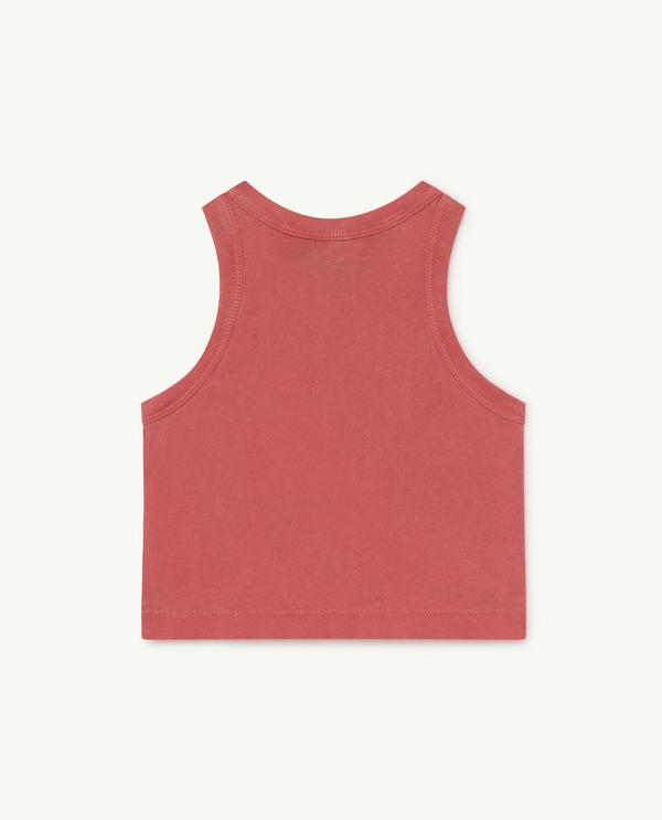 Baby Boys & Girls Red Dolphin Cotton Vest