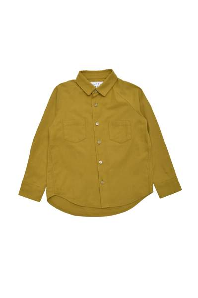 Boys Dark Yellow Cotton Shirt