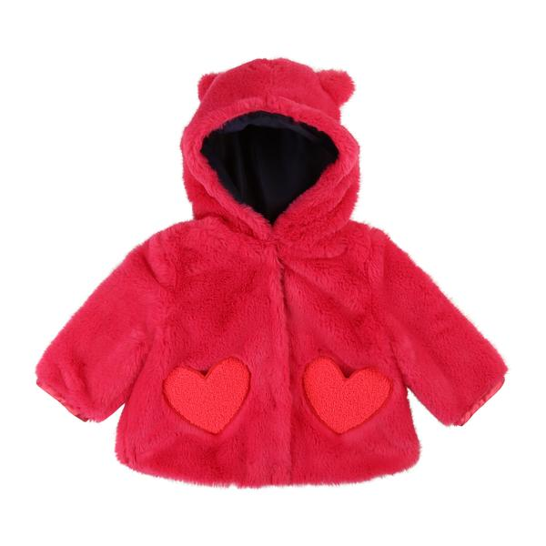 Baby Girls Red Hooded Coat