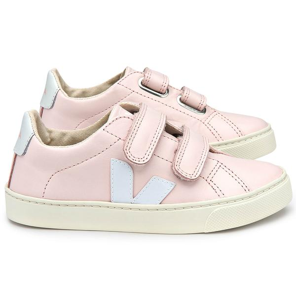 Girls Pink Leather Velcro Shoes - CÉMAROSE | Children's Fashion Store - 2