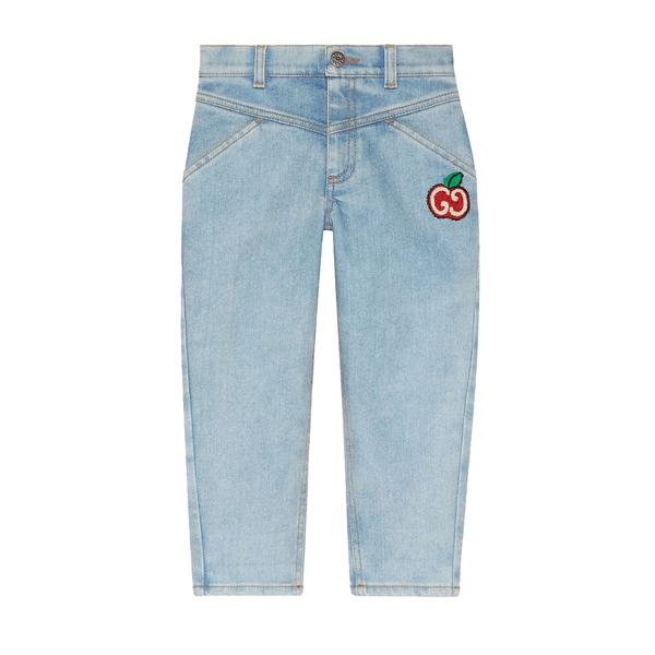 Girls Light Blue Denim Cotton Jeans