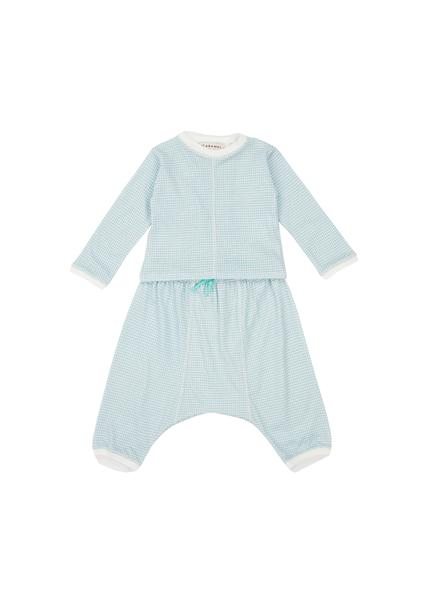 Baby Boys & Girls Cyan Cotton Set