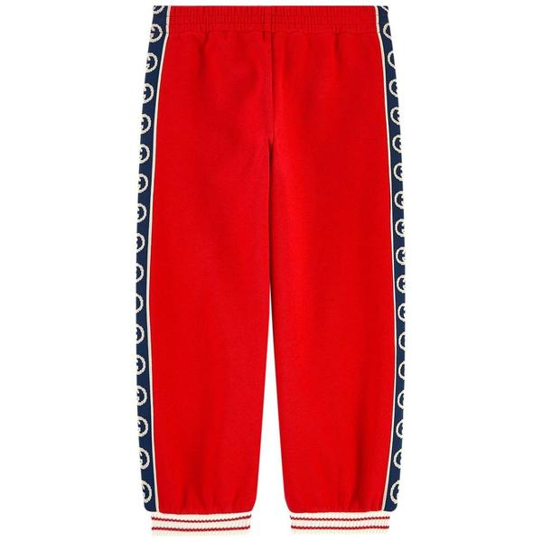 Boys & Girls Red GG Cotton Trousers