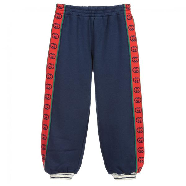 Boys & Girls Prussian Blue Cotton Trousers