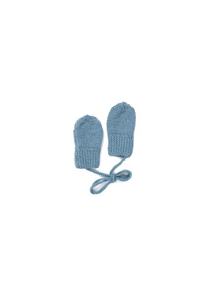 Baby Boys Blue Alpaca Gloves